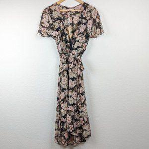 Band of Gypsies NWT Floral Wrap Dress M